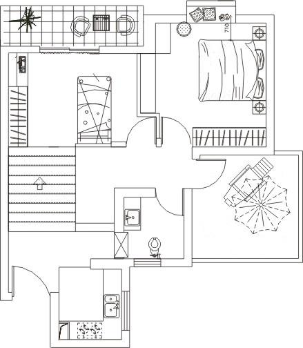 平混搭复式客厅装修图片客厅潮流混搭客厅设计图片赏析