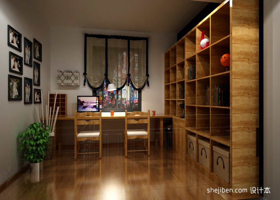 复式书房混搭装修欣赏图片设计图片赏析