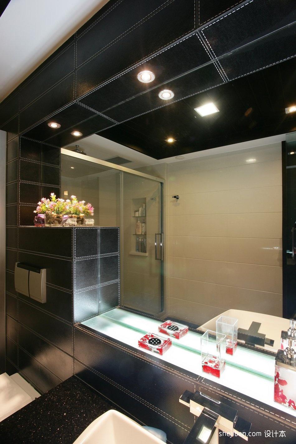 热门面积143平别墅卫生间混搭装修效果图片大全卫生间潮流混搭卫生间设计图片赏析