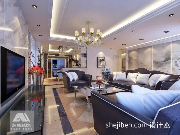 荣和大地小区混搭风格室内装修设计效果图客厅潮流混搭客厅设计图片赏析