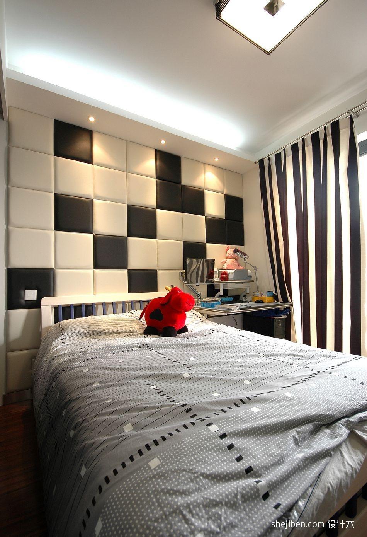 典雅103平混搭三居卧室装潢图卧室潮流混搭卧室设计图片赏析