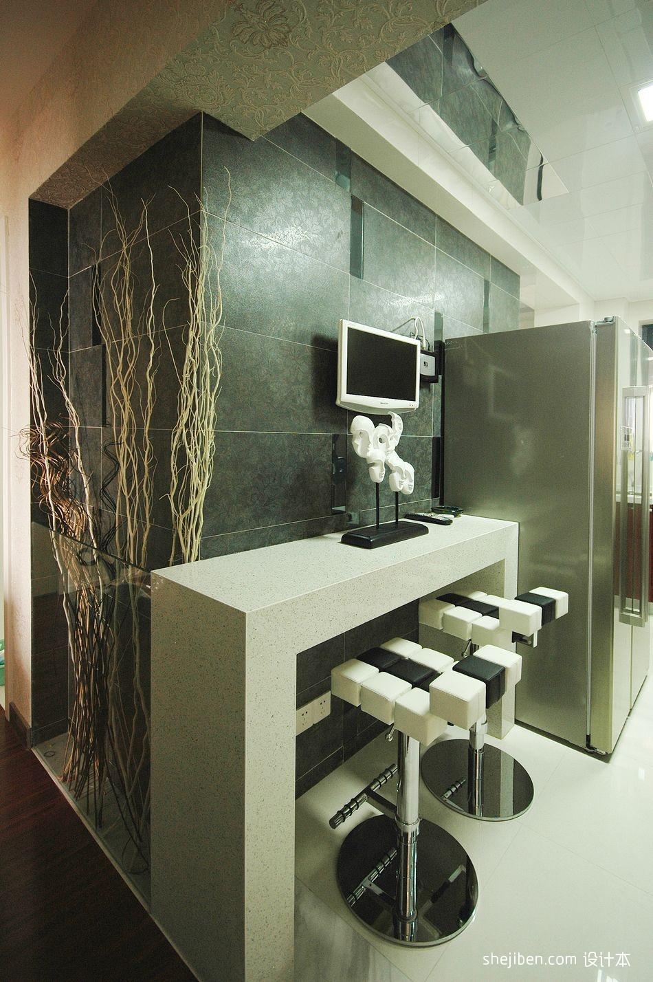 精美126平混搭三居厨房设计图餐厅潮流混搭厨房设计图片赏析