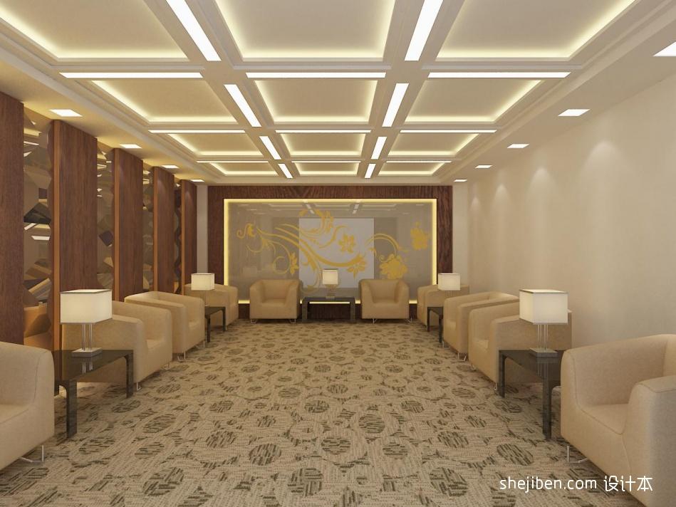 接待室方块毯装修效果图办公空间其他设计图片赏析