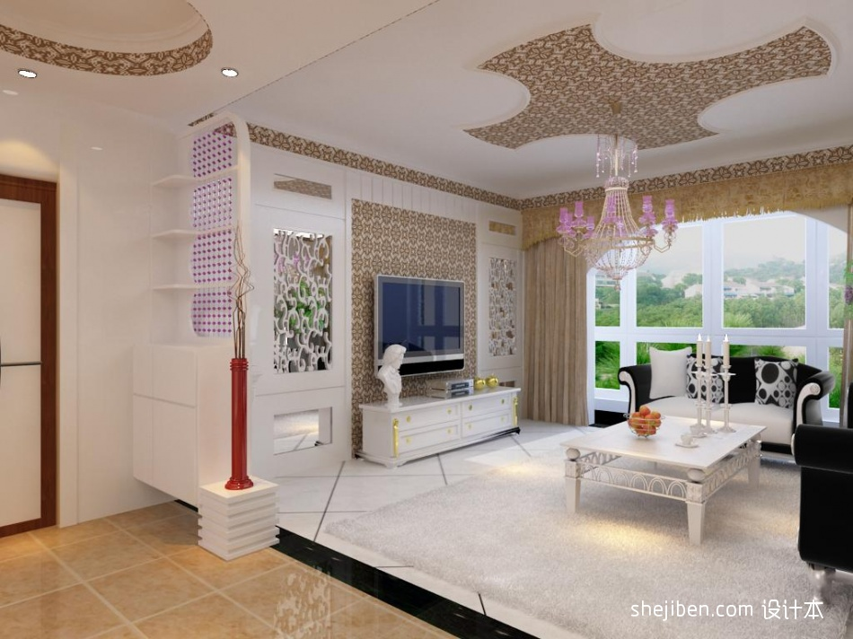 平米3室客厅混搭装修实景图片客厅潮流混搭客厅设计图片赏析