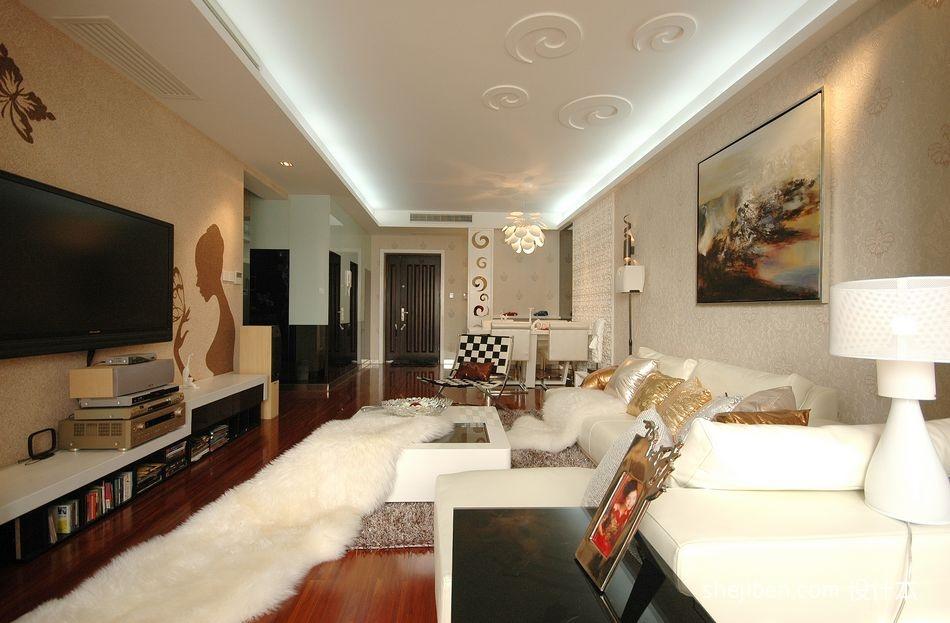 精选94平米三居混搭装修图客厅潮流混搭客厅设计图片赏析