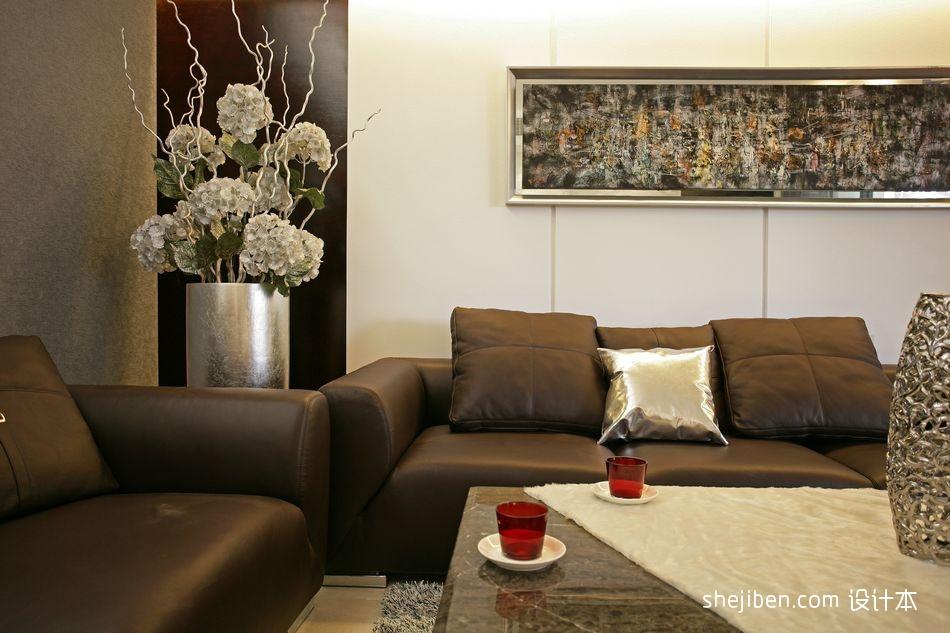现代客厅手绘挂画装修效果图设计图片赏析