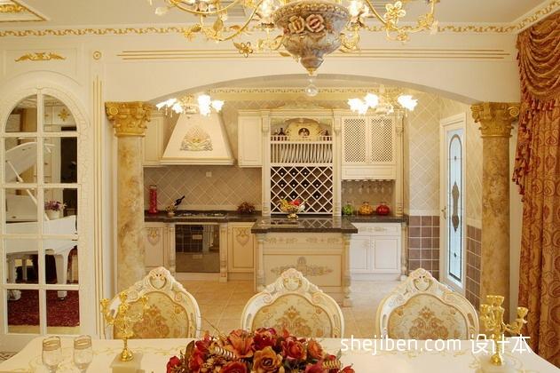优美817平混搭别墅厨房设计图餐厅潮流混搭厨房设计图片赏析