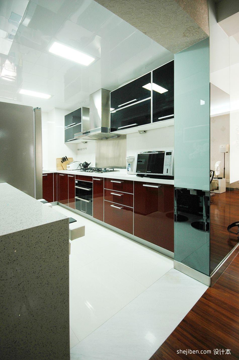 2018精选面积93平混搭三居厨房装修实景图餐厅潮流混搭厨房设计图片赏析