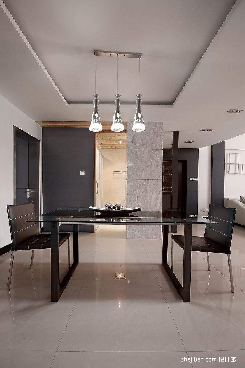 星语林名园复式楼设计餐厅吊灯装饰装修效果图设计图片赏析
