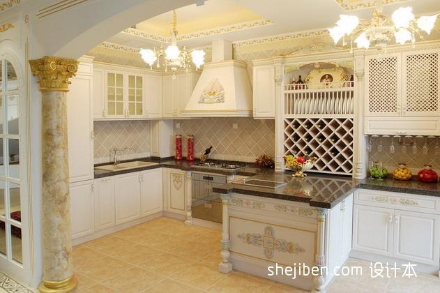 明亮322平混搭别墅厨房图片欣赏餐厅潮流混搭厨房设计图片赏析