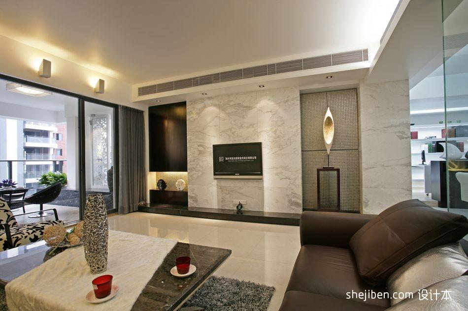 天华美地简约时尚客厅家居设计图片赏析