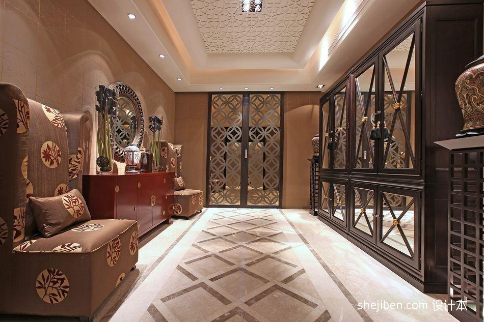 东南亚风格客厅玄关装修效果图玄关潮流混搭玄关设计图片赏析