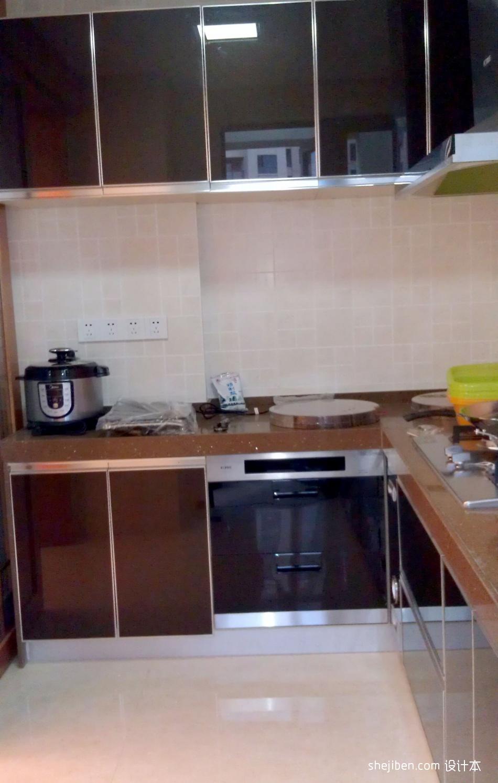 热门面积129平混搭四居厨房装修实景图片欣赏餐厅潮流混搭厨房设计图片赏析