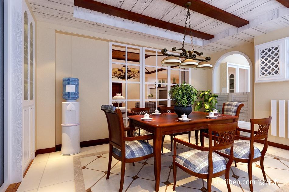 典雅104平混搭四居餐厅装修图片厨房潮流混搭餐厅设计图片赏析