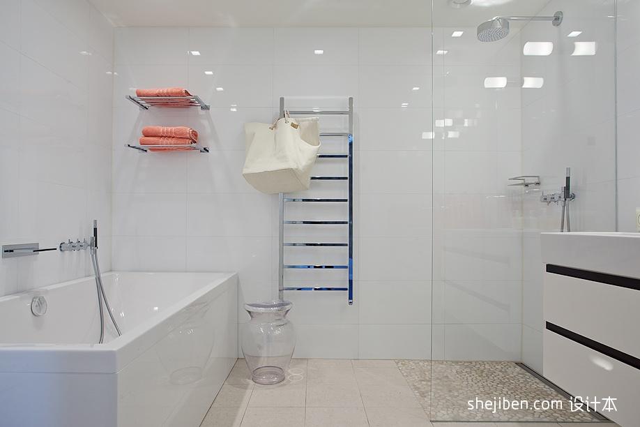 精美二居卫生间现代装修欣赏图卫生间现代简约卫生间设计图片赏析