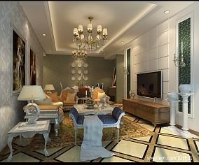 美式卧室婚房装修效果图
