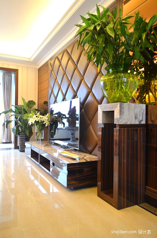 欧式高档装修客厅电视背景墙效果图功能区欧式豪华功能区设计图片赏析