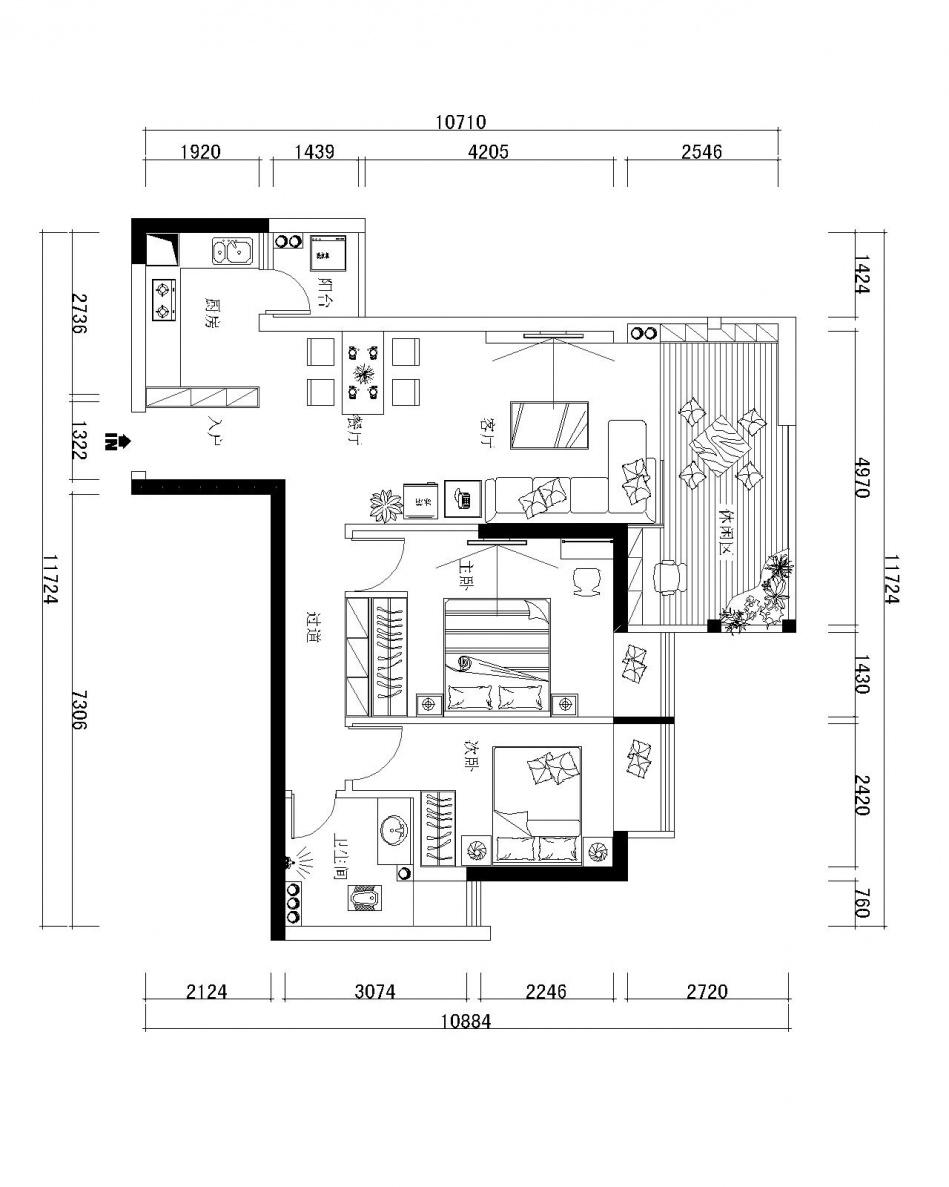 优雅339平混搭样板间客厅图片大全客厅潮流混搭客厅设计图片赏析