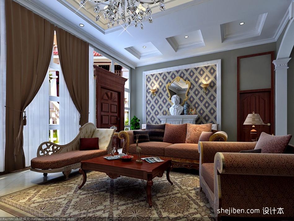 欧式客厅潮流混搭客厅设计图片赏析