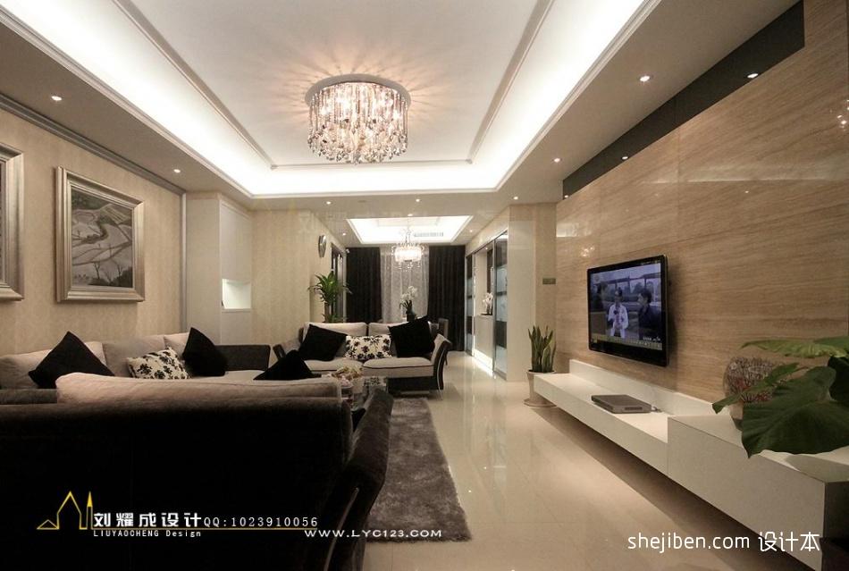 热门混搭3室客厅装修欣赏图片大全109.86平客厅潮流混搭客厅设计图片赏析