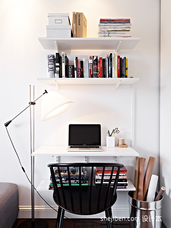 精美现代小户型书房欣赏图片大全功能区现代简约功能区设计图片赏析