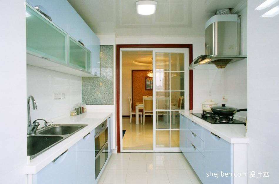 精美面积92平混搭三居厨房装修实景图片欣赏餐厅潮流混搭厨房设计图片赏析