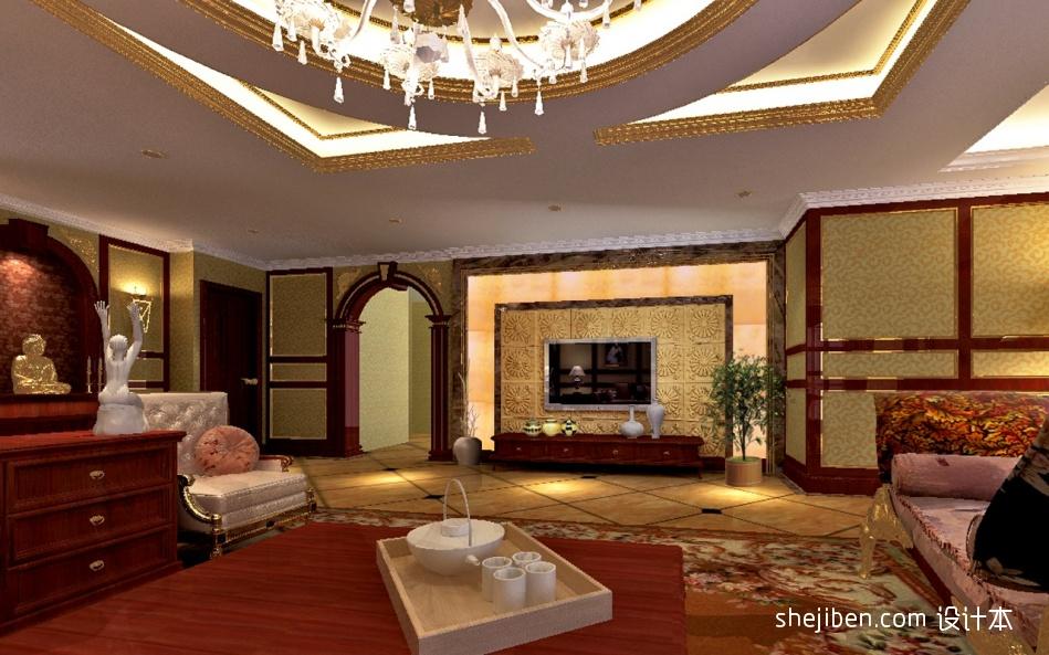 明亮589平混搭别墅客厅装修设计图客厅潮流混搭客厅设计图片赏析