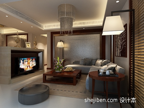 精选面积131平混搭四居客厅效果图片客厅潮流混搭客厅设计图片赏析