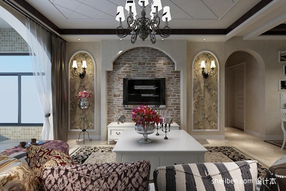 精美101平客厅三居混搭效果图片大全客厅潮流混搭客厅设计图片赏析