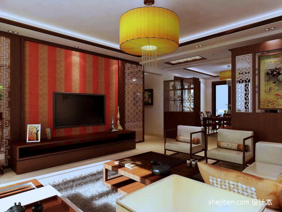 典雅106平混搭三居客厅装修图客厅潮流混搭客厅设计图片赏析