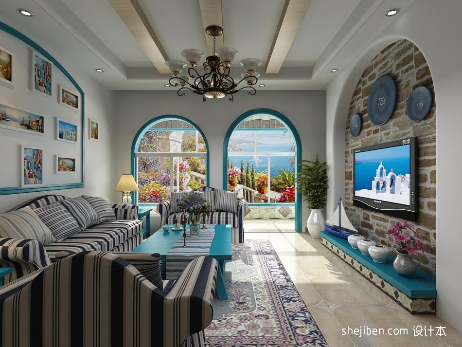 热门面积100平混搭三居客厅装修效果图片大全设计图片赏析