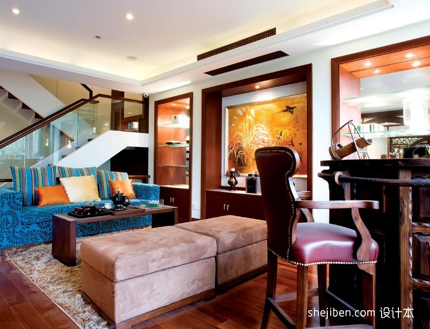 2018精选130平米混搭复式客厅装修效果图片大全客厅潮流混搭客厅设计图片赏析