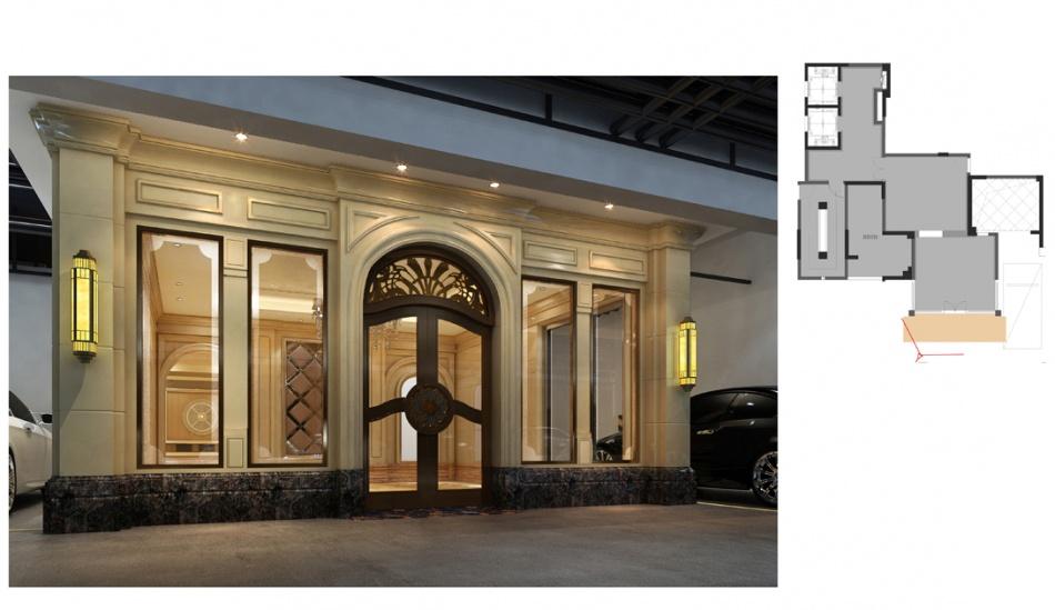 温馨303平混搭样板间客厅装修图客厅潮流混搭客厅设计图片赏析