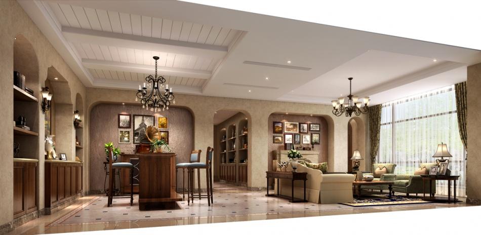 简洁707平混搭别墅客厅设计案例潮流混搭设计图片赏析