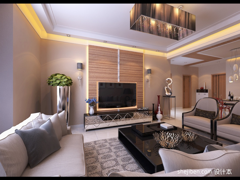 电视墙客厅潮流混搭客厅设计图片赏析
