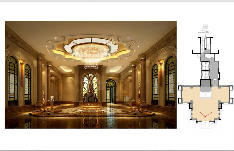 典雅310平混搭样板间客厅装修装饰图潮流混搭设计图片赏析