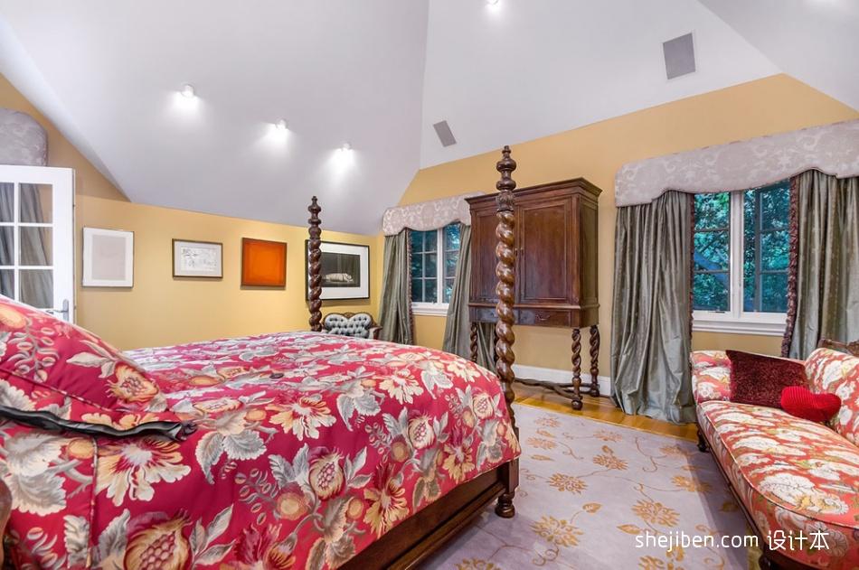 别墅设计美式卧室衣柜装修效果图