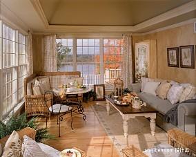 热门面积141平别墅客厅混搭装修效果图片大全