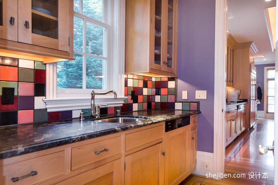 别墅设计现代厨房橱柜装修效果图