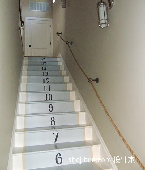 2017现代风格别墅室内精品木质楼梯护栏装修效果图功能区6图潮流混搭功能区设计图片赏析