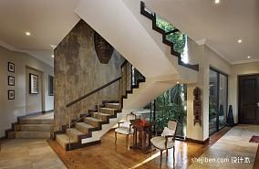 2017现代风格别墅家用精品不锈钢楼梯护栏装修效果图