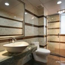 大理石材质的卫生间装修效果图