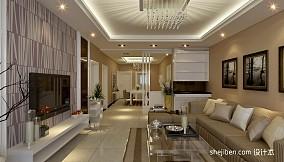 2018精选95平方三居客厅现代装饰图