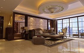 热门面积92平混搭三居客厅效果图片大全