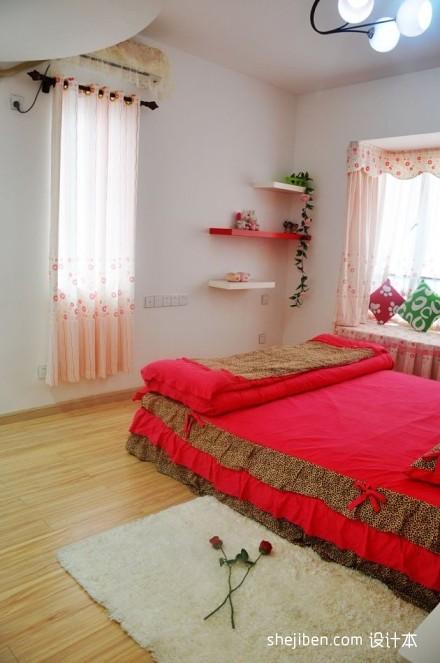 精美面积101平混搭三居卧室实景图片卧室