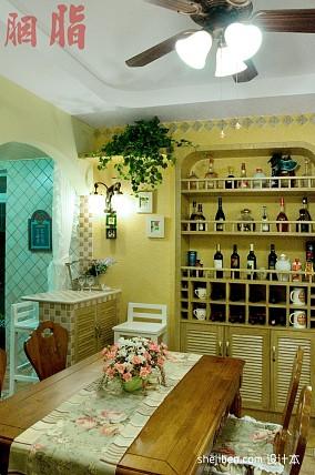 悠雅124平混搭三居餐厅设计图厨房2图潮流混搭设计图片赏析