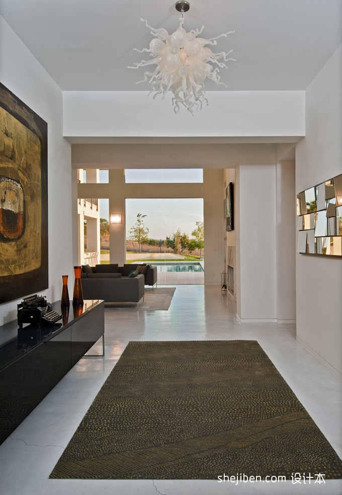 精选130平米混搭别墅过道效果图片大全客厅潮流混搭客厅设计图片赏析