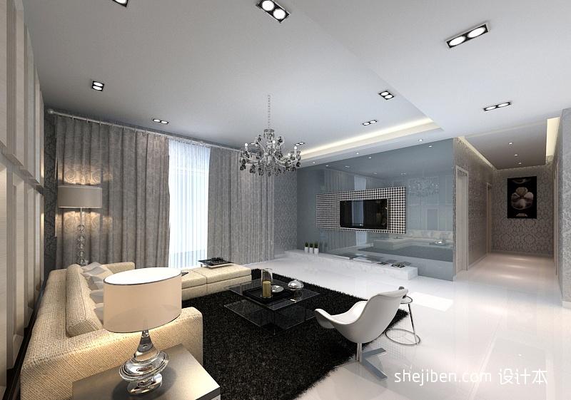 客厅电视墙设计效果图潮流混搭设计图片赏析