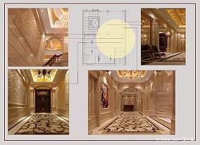 悠雅256平混搭别墅客厅设计效果图