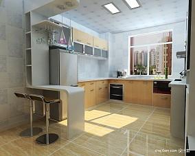 2018面积84平小户型厨房混搭装修设计效果图片欣赏